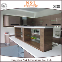 2015 China Made modern mini Kitchen cabinet units with sink (free design) steel cabinet