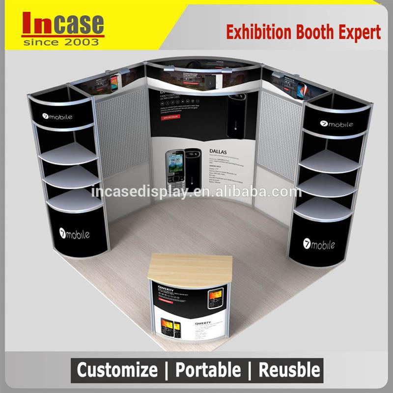 Incase 10ft x 10ft Portable Trade Show Booth Exhibit Display Stand