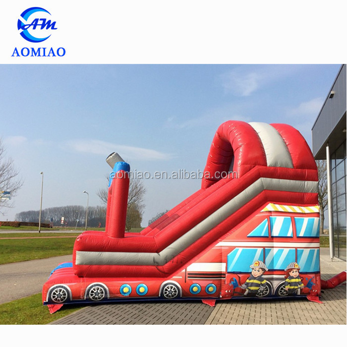 Top sale inflatable water slide, kids inflatable fire truck slide for commercial rental