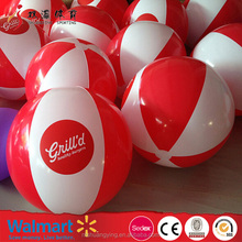 Factory direct wholesale pvc inflatable beach ball with logo printing made in china