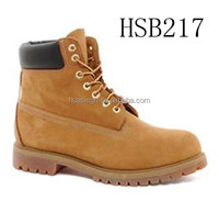 US popular wheat/black 6 inch steel toe leather work boots /shoes high quality