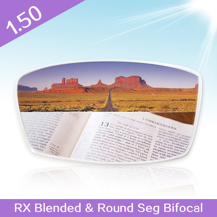 1.50 RX Blended&Round Seg Bifocal Optical prescription lenses