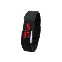 New Arrival! Fashion Sport LED Watches Candy Color Silicone Rubber Touch Screen Digital Watches, Waterproof