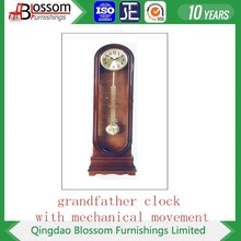 wood carving clock with 31 days mechanical movement or battery movement