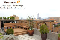 2015 new design outdoor wpc fence wood plastic composite Garden fencing