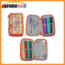 New arrivel pencil case with zipper 2 layer for school