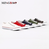 Flat Fashion Bulk canvas sneakers 2018 men casual shoes