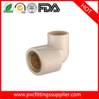 "2016 China factory High quality Brass Pipe Fittings 90 Degree CPVC Female Elbow 1/2"" 3/4"" 1"""