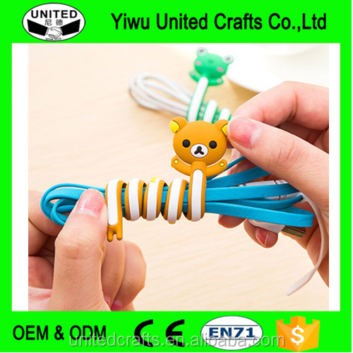 Kawaii Animal Earphone Wrap Cord Wire Cable Holder Winder Organizer