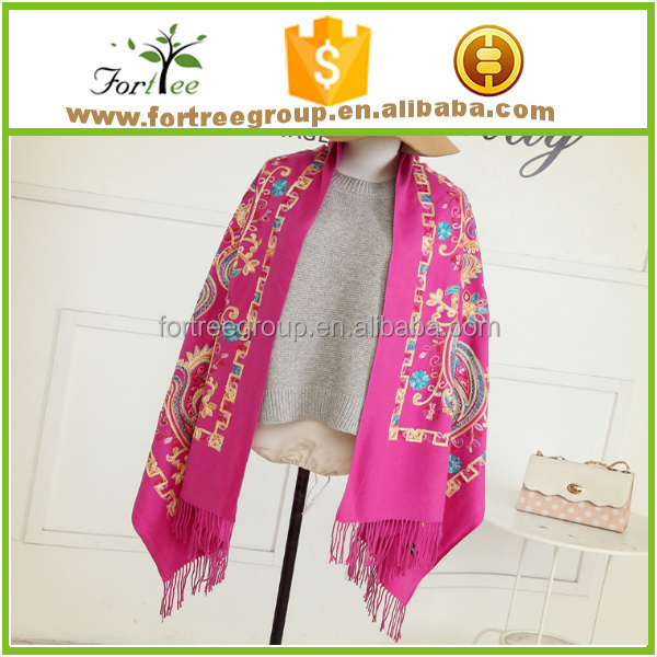 hand embroidery scarf design for women