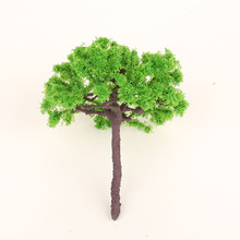 wholesale 2pcs/box scale model tree railroad house park street layout green landscape scene scenery wire rion model tree(s-i22)