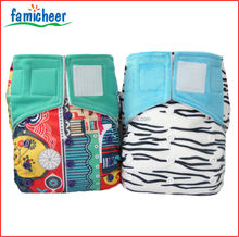Famicheer Washable Cloth Diapers,Washable Nappy,Reusable Baby diapers
