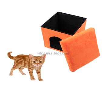 2018 best quality padded pet house ottoman