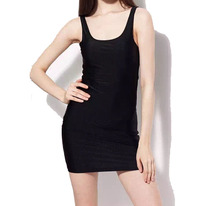 Lustrous Hip Package Stretch Tighten Sexy Sundress Q911