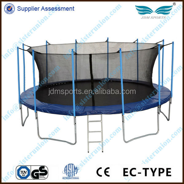 Useful fitness high quality 6FT-16FT new kids trampoline/jumping bed