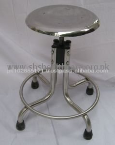 Medical Patient Stool, Stainless Steel
