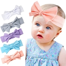 Cheap wholesale cute stretchy comfortable breathable bows knotted hair accessories sets for baby kids children girl