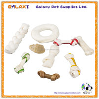 wholesale bulk dog pet treat dry dog chew food pressed munchy knotted bones and donut rawhide dog pet chew and treat food