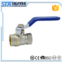 ART.1005 China Supplier Manual Operated Forged Nickel plated 1/2 1 Inch Brass Water Gas Ball Valve With Steel Handle Price List