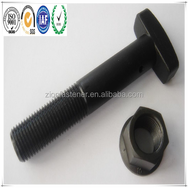 Specialty Screws and Bolts High Strength 12.9 Grade M20 Black T head Bolt With Hole