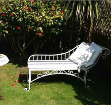 Royal luxury garden metal daybed bed bench
