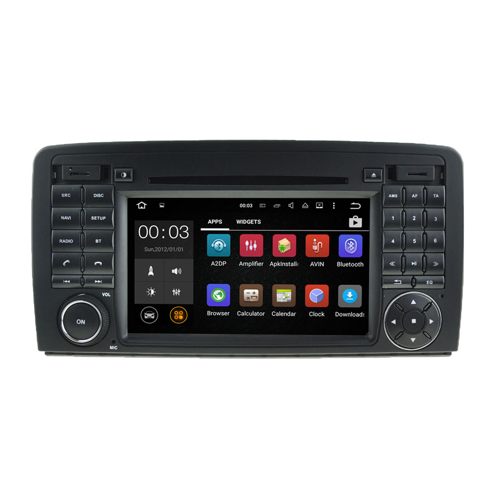 "7"" 1024*600 Quad core 2DIN Pure Android 5.1.1 Car DVD GPS Player forMERCEDESBENZ R CLASS R320 With WIFI Bluetooth Mirror-link"