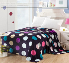 Polka Dot Flannel Blanket Living Room Bedding Soogan Quilt Air Condition Wrap