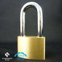 W206 Heavy Duty Long Shackle Brass Padlock in Locks