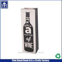 Cutome made it's only a matter of wine bottle paper bag with strong ribbon handle