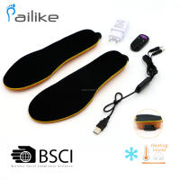 Wireless control Heated warming insole, USB rechargable, Li-on battery,