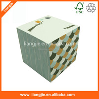 4 sides-printed paper block, note memo cube for gift
