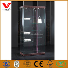 Exclusive shop high quality luxury branded shoe and bag store glass showcase with lights