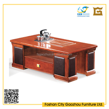 Rectangle Wooden frame coffee table /tea table wtih Leather cover wooden legs and drawers