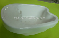 OEM china factory make vacuum forming round shape plastic foot and hand wash basin