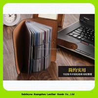 15234 Real leather Name card Credit card Business card holders with inner plastic pvc