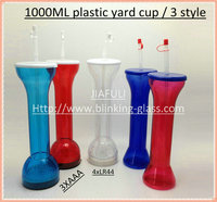 LED Flashing Plastic Beer Cup Yard 1000ML