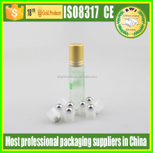 glass roll on bottles refillable roll on bottle vials with stainless steel metal ball