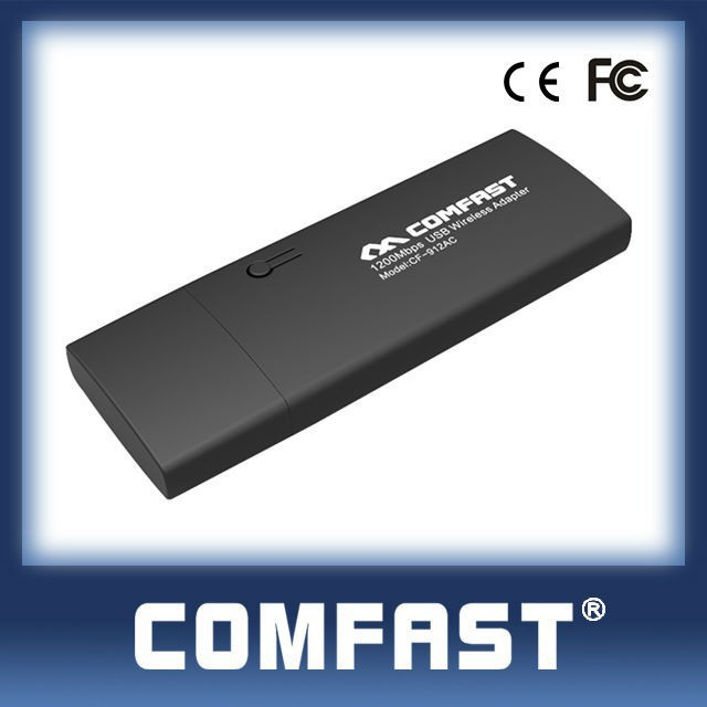 802.11 N/AC 1200Mbps USB Wireless Adapter COMFAST CF-912AC 2.4Ghz&5.8Ghz Dual Band Wireless USB Adapter for Android
