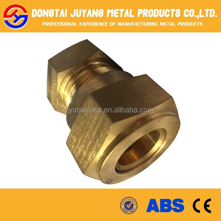 Copper compression joints plumbing pipe fittings