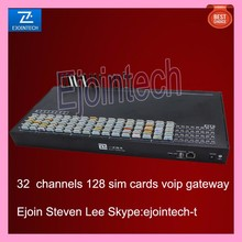 32 port 128 sim cards gsm gateway, voip access traditional voice to digital to internet
