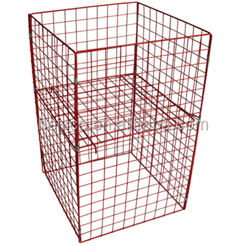 Manufacturer portable warehouse transport baskets Wire Mesh Container