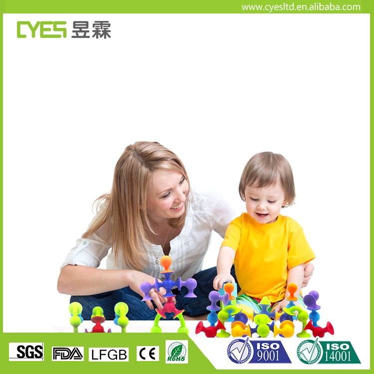Cheap Price Silicone Building Suction Toys Inspire Kids Preschool Skills Educational Toys