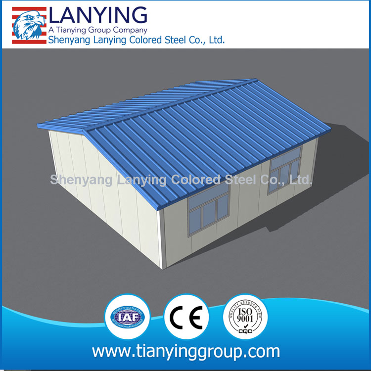 professional design corrugated sheet metal house high quality prefab villas from China factory