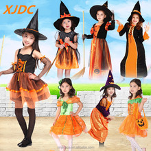 Fashion baby halloween holidays lace tutu pumpkin costume for girl