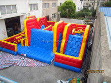 used cheap price adult inflatable obstacle course
