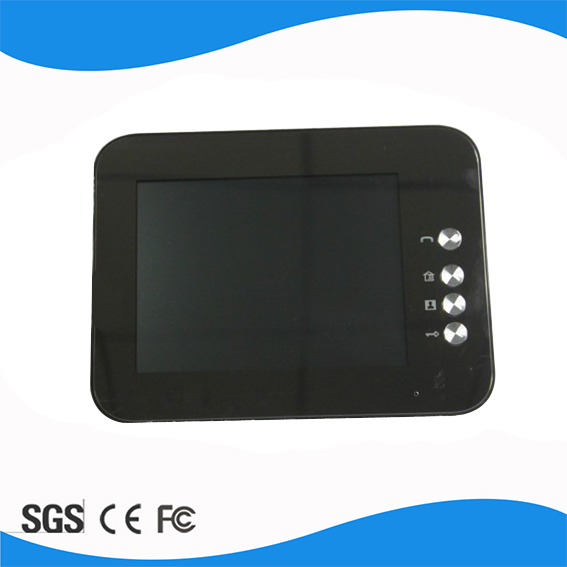 V8C Black Free shipping 4 wire 8 inch color handfree Copy Ipad Exterior White touch key video door phone intercom systems