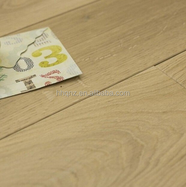 NATURAL SOLID EUROPEAN OAK BRUSHED UNFINISHED WOOD FLOORING