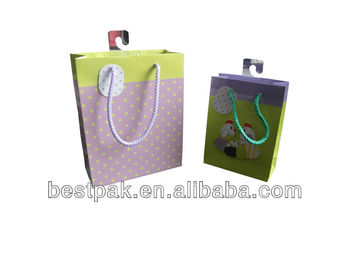high quality chic small paper gift bag