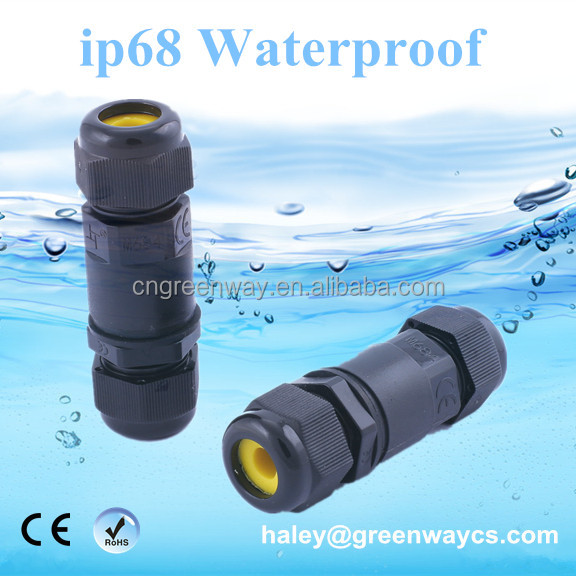 ip68 waterproof connector male female plastic electrical wire connectors underwater cable led power box