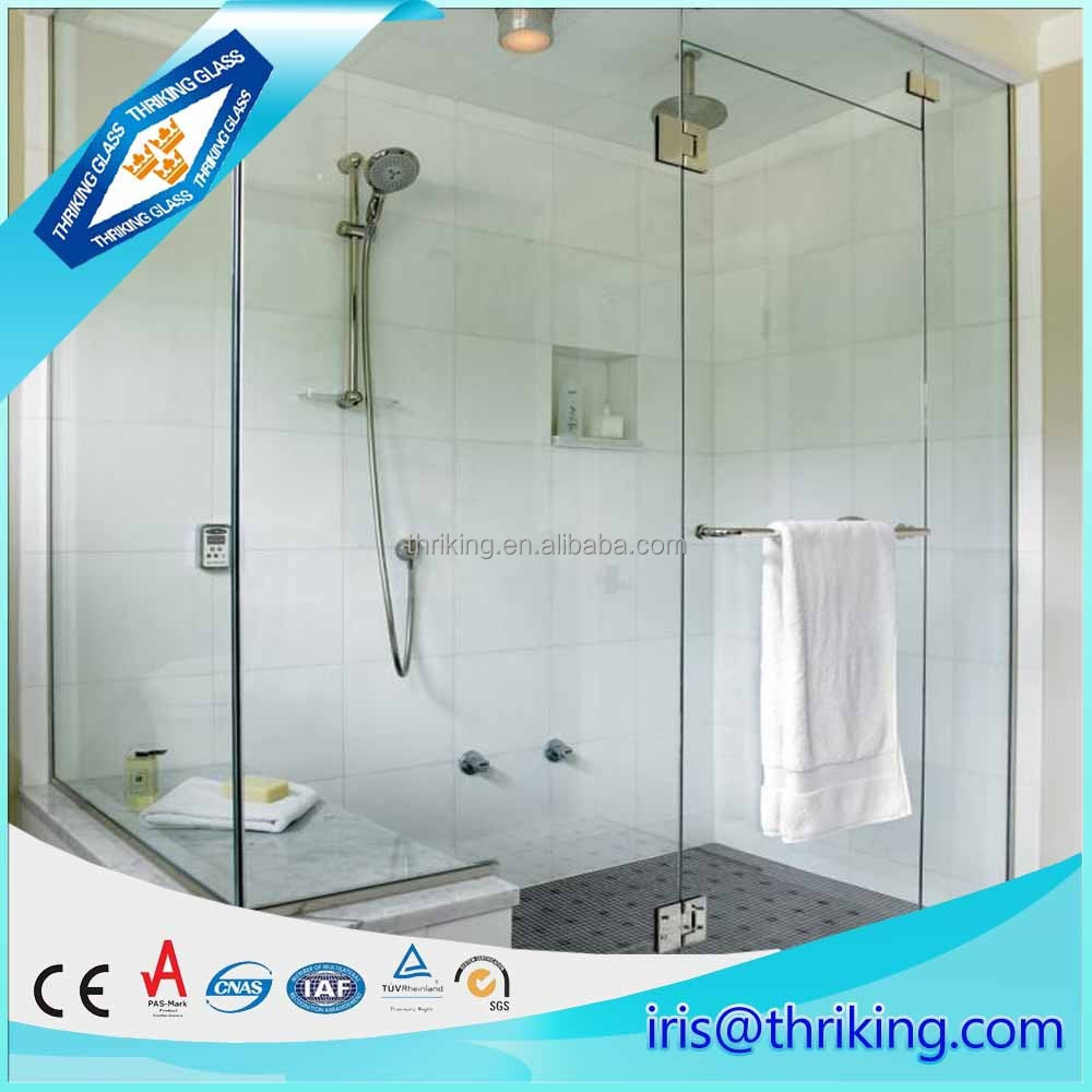 Thriking glass 12mm safety bathroom door glass, tempered glass price